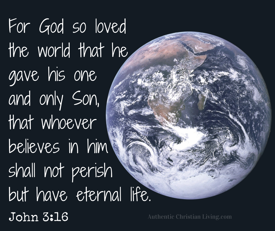 John 3 16 | God so loved the world | Scripture memory verses | Bible