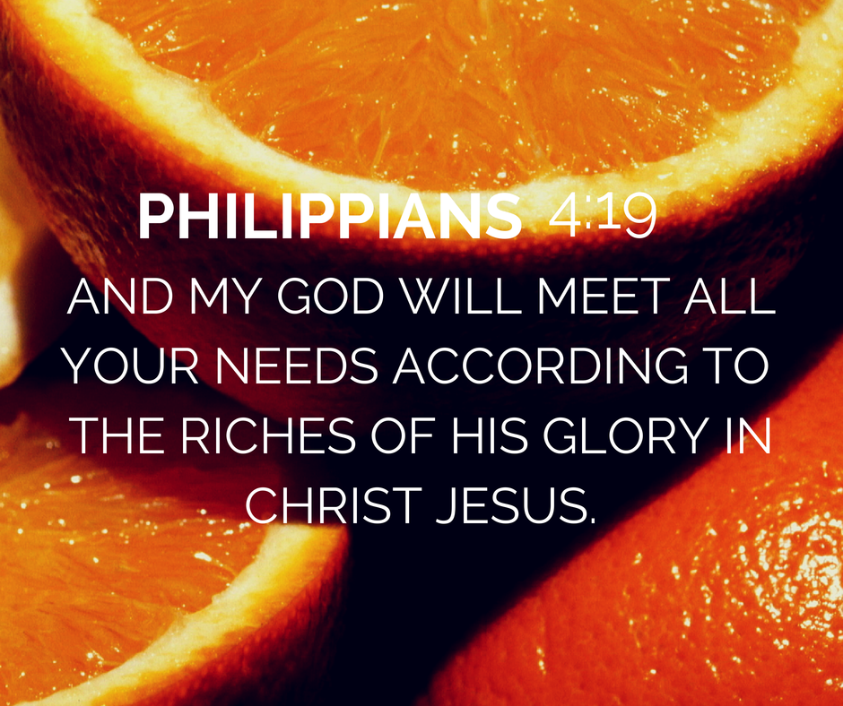 Philippians 4 memory verse | God will meet needs |