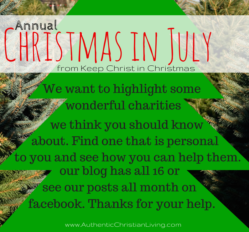 Highlighting charities | 16 great Christian charities worth noting | Christmas in July Campaig