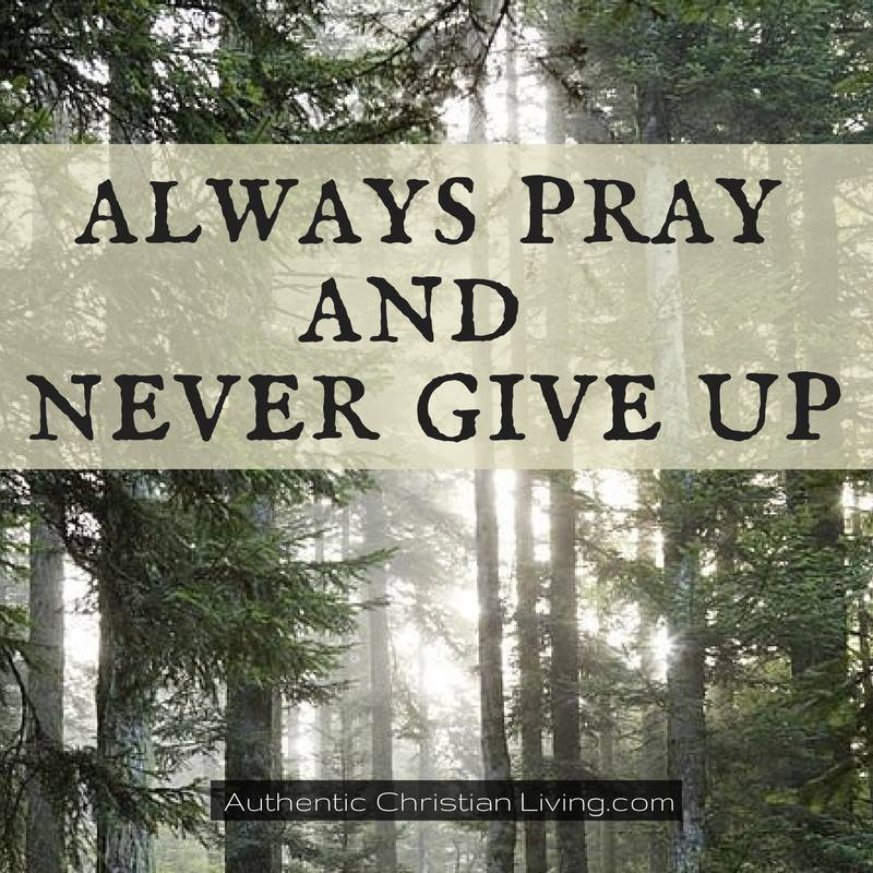 Luke 18 | Always pray never give up |