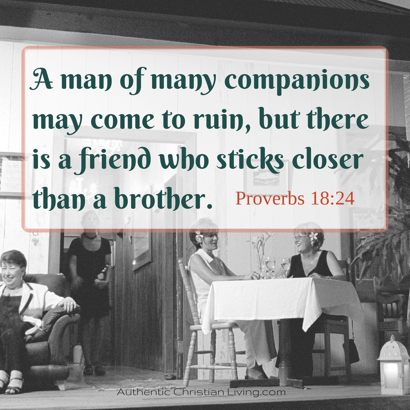 Proverbs 18 | Man of many companions | scripture blog post